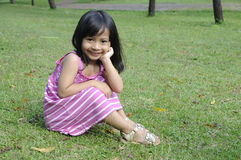 Cute Little Girl On The Park Royalty Free Stock Photos