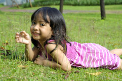 Cute Little Girl On The Park Stock Images