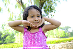 Cute Little Girl On The Park Royalty Free Stock Image