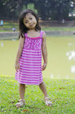 Cute Little Girl On The Park Royalty Free Stock Photography
