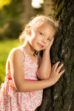Cute little girl in the park Royalty Free Stock Image