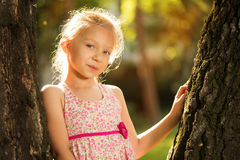 Cute little girl in the park Stock Photography