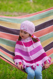 Cute little girl on picnic Stock Photography