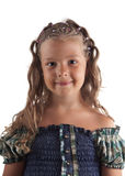 Cute little girl with pigtail hairstyle Stock Photos