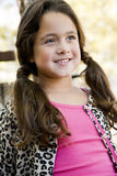 Cute little girl in pigtails Royalty Free Stock Images