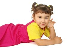 Cute little girl in pink Royalty Free Stock Photos