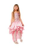 Cute little girl in a pink dress Stock Photography