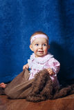 Cute little girl in pink dress Royalty Free Stock Images