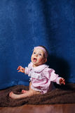 Cute little girl in pink dress Royalty Free Stock Photography