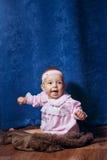 Cute little girl in pink dress Stock Image
