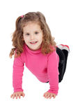 Cute little girl in pink playing Stock Photos
