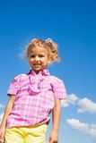 Cute little girl in pink with smile Royalty Free Stock Images