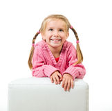 Cute little girl with a plaits Stock Images