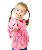 Cute little girl with a plaits Royalty Free Stock Photo