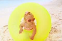 Cute little girl play at beach Stock Photo