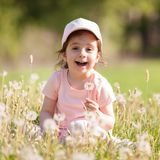 Cute little girl play in the park. Royalty Free Stock Photo