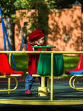 Cute little girl on playground Royalty Free Stock Photo