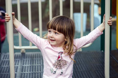 Cute little girl on playground Stock Photography