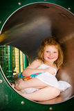 Cute little girl playing Stock Photos