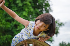 Cute little girl playing Stock Images