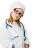 Cute little girl is playing doctor Royalty Free Stock Photo
