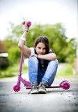 Cute little girl is playing... Royalty Free Stock Photo