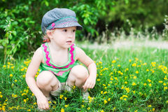 Cute little girl playing in the park Stock Photography