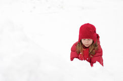 Girl in the snow Royalty Free Stock Images