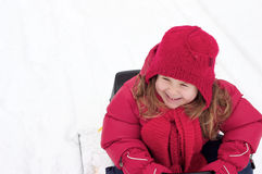 Girl in the snow Royalty Free Stock Photography
