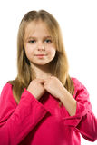 Cute little girl portrait Stock Images