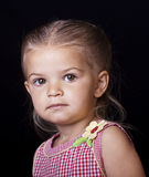 Cute little girl portrait Stock Photos