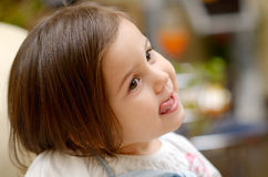 Cute little girl portrait Royalty Free Stock Photos