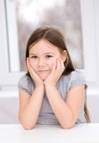 Cute little girl. Portrait of a cute little girl Royalty Free Stock Photography