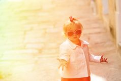 Cute little girl portrait in the city Stock Photography