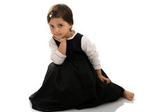 Cute little girl posing. Isolated on white Stock Photography