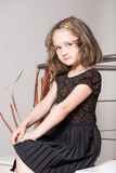 Cute little girl posing Stock Photography