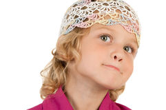 Cute little girl posing for the camera Stock Images