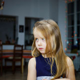 Cute little girl posing indoor Royalty Free Stock Photography