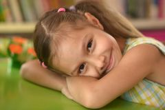 Cute little girl  posing Royalty Free Stock Image