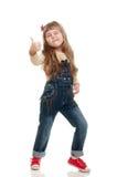 Cute little girl posing in studio Stock Photo