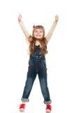 Cute little girl posing in studio Royalty Free Stock Image