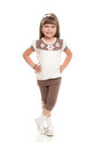 Cute little girl posing in the studio Royalty Free Stock Photo
