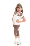 Cute little girl posing in the studio Stock Images
