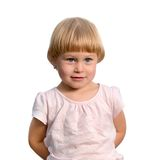 Cute little girl posing in the studio Stock Photos