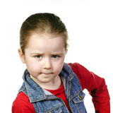 Cute little girl posing in studio, childhood concept Royalty Free Stock Image
