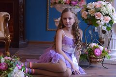 Cute little girl in princess dress Royalty Free Stock Photos