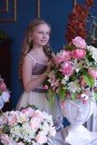 Cute little girl in princess dress. Portrait of cute little girl in princess dress Royalty Free Stock Photo