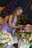 Cute little girl in princess dress. Portrait of cute little girl in princess dress Stock Photo