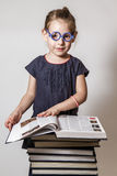Cute Little Girl Reading Royalty Free Stock Photos