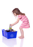 Young girl recycling Stock Photos